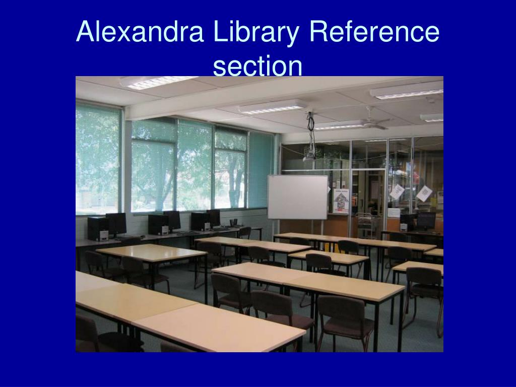 Alexandra Library Reference section