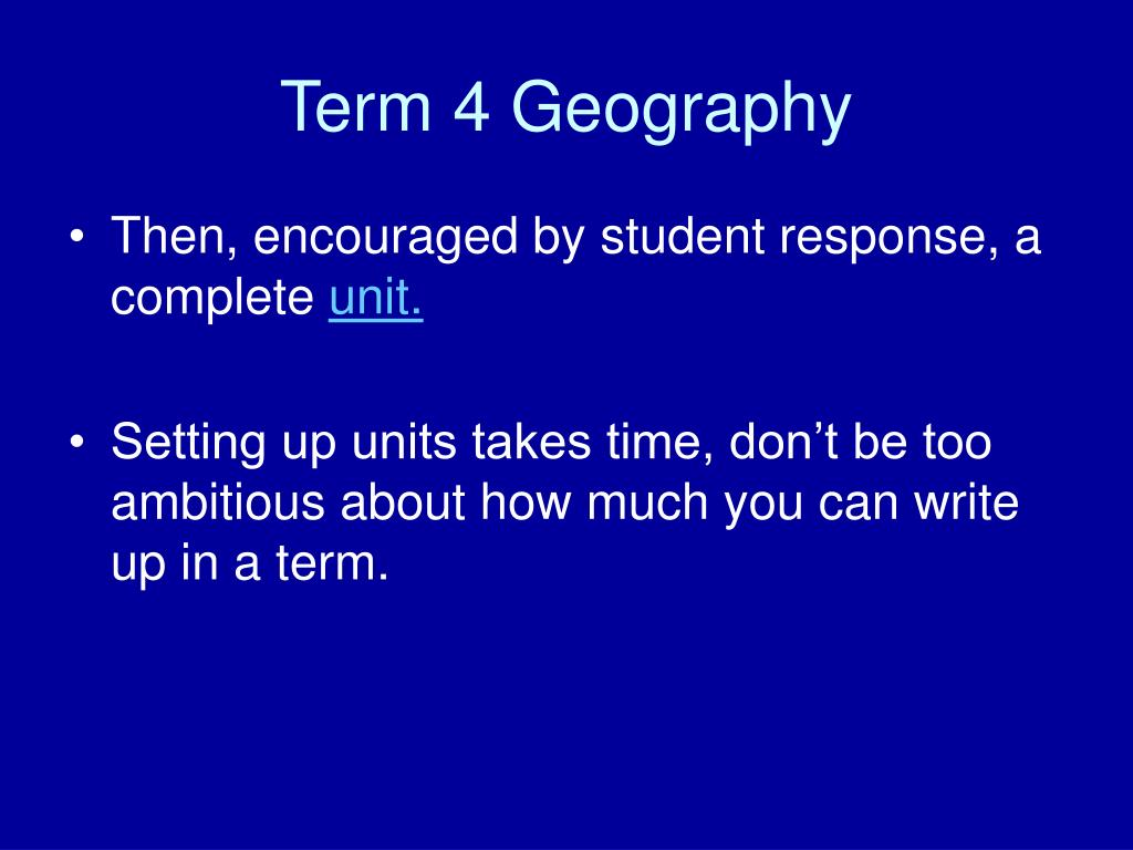 Term 4 Geography