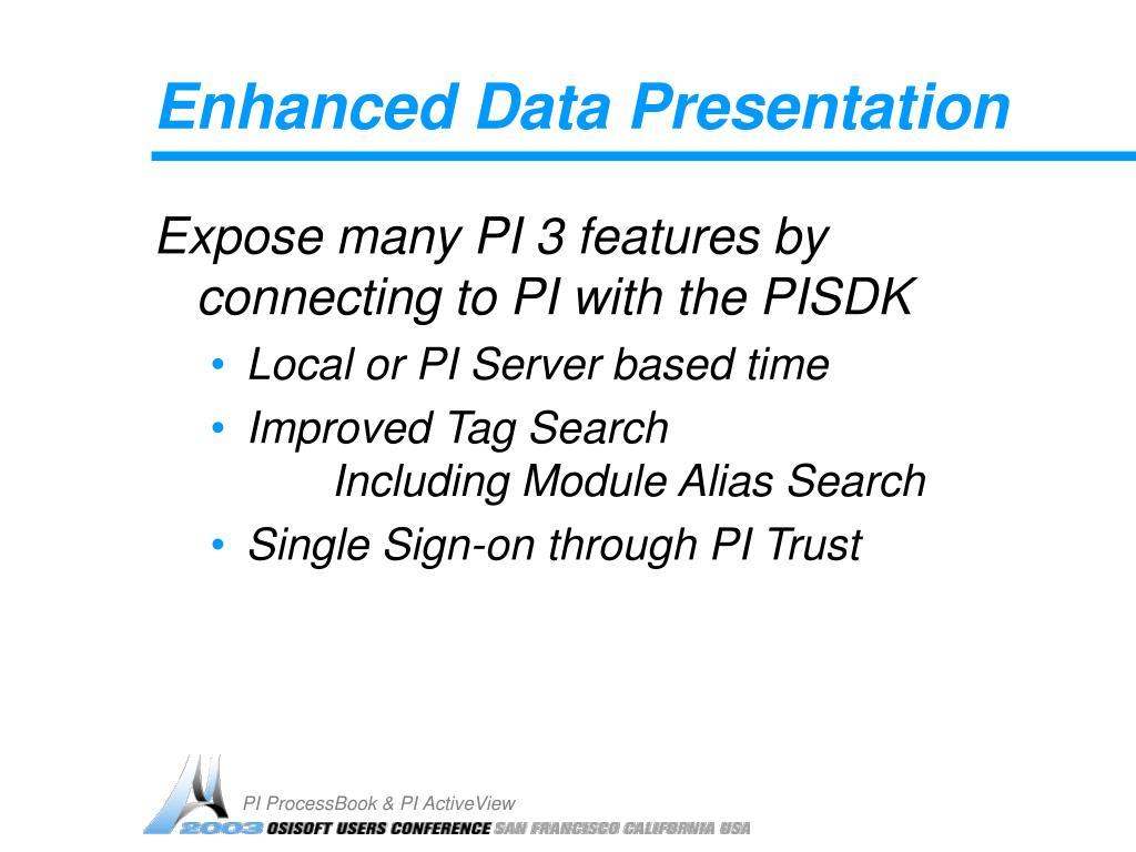 Enhanced Data Presentation