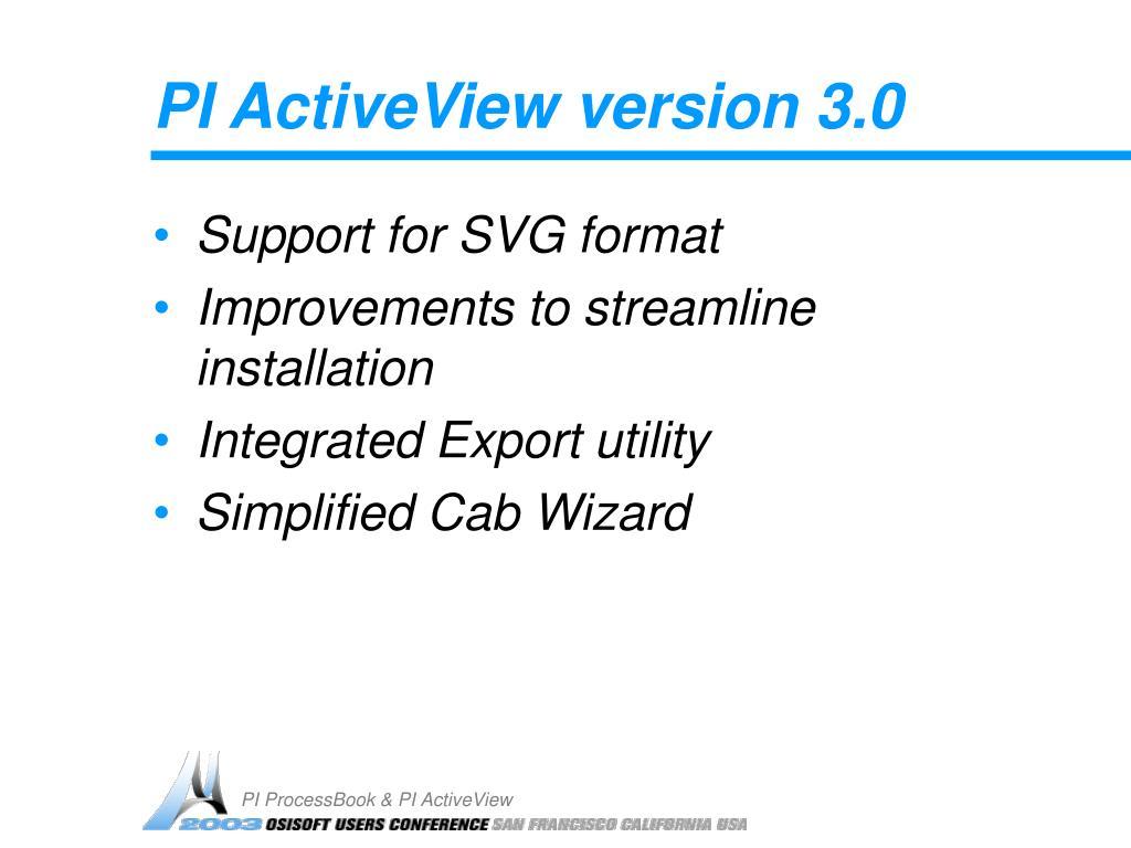 PI ActiveView version 3.0