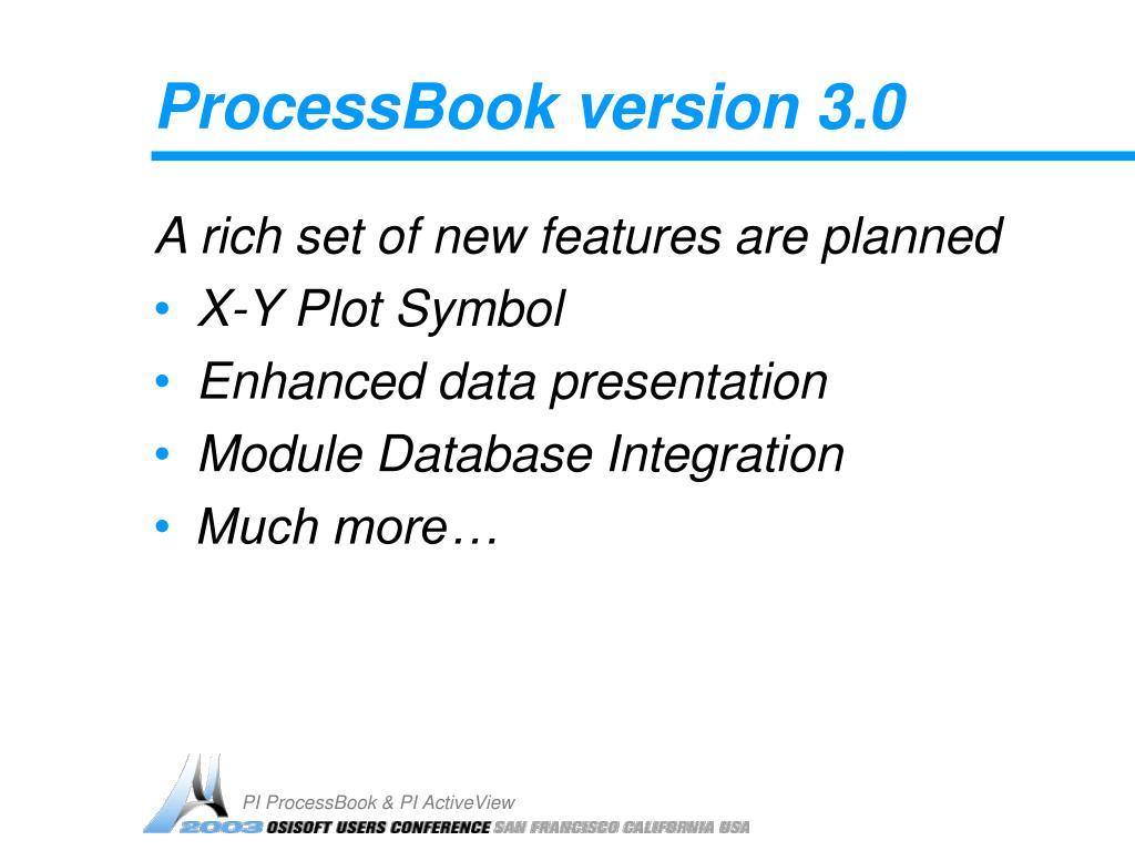 ProcessBook version 3.0