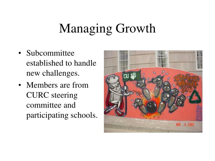 Managing Growth