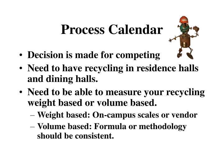 Process Calendar