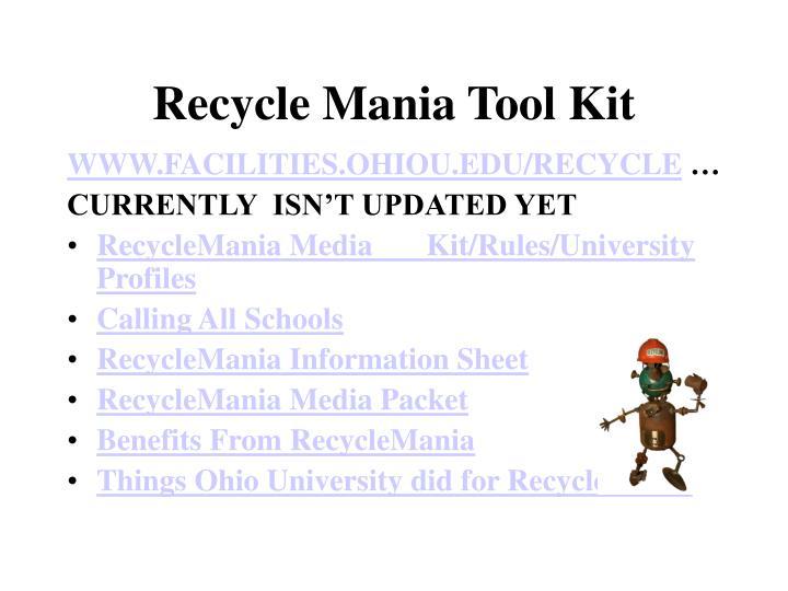 Recycle Mania Tool Kit