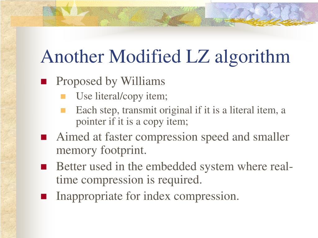 Another Modified LZ algorithm