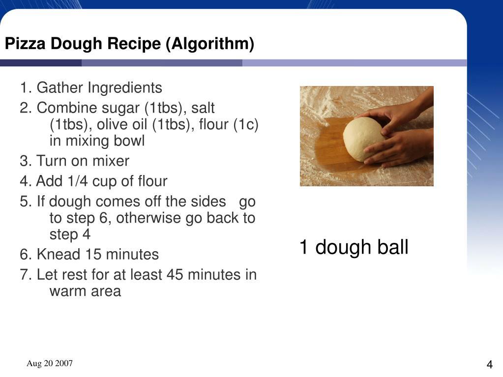 Pizza Dough Recipe (Algorithm)