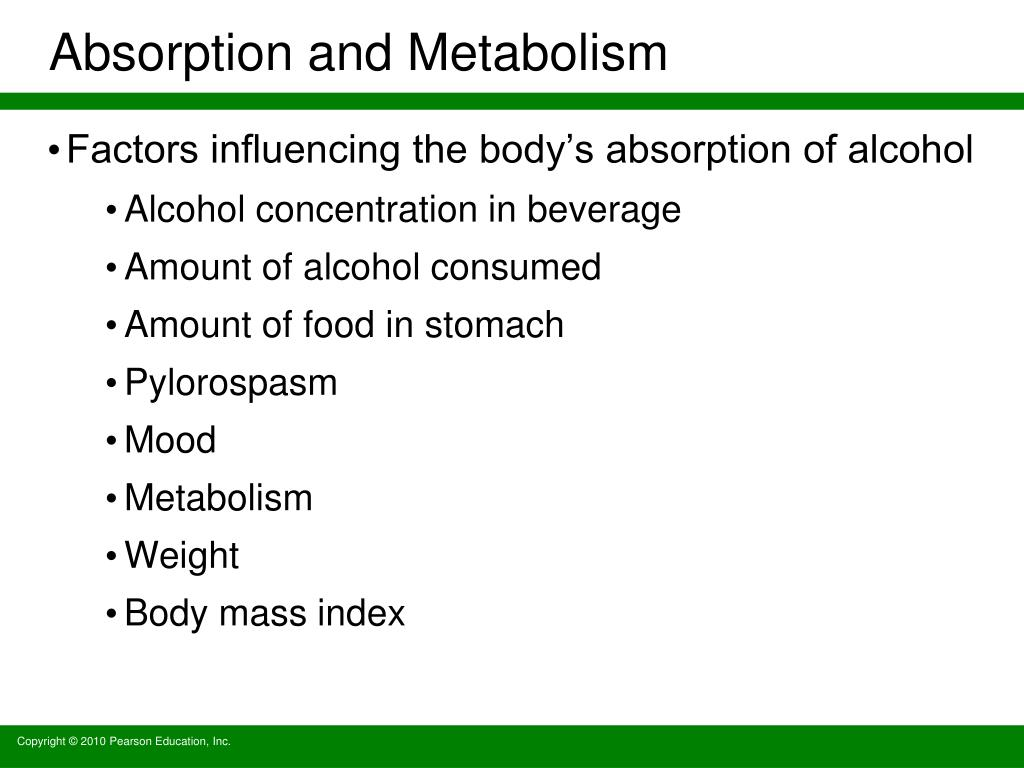 Absorption and Metabolism