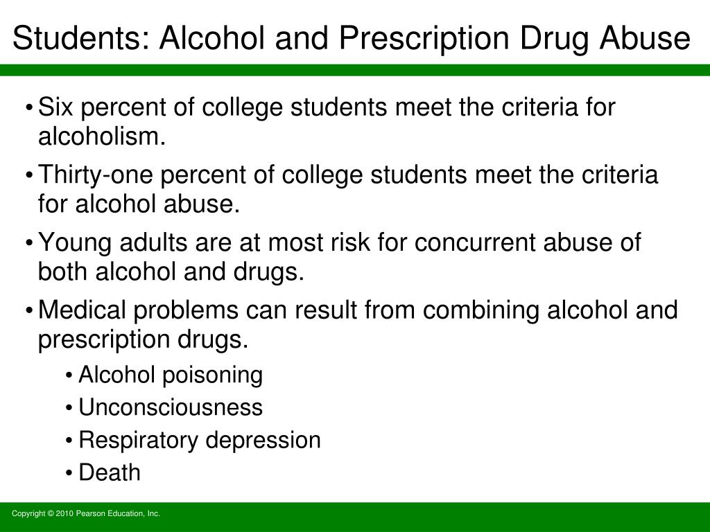 Students: Alcohol and Prescription Drug Abuse