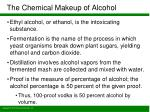 the chemical makeup of alcohol