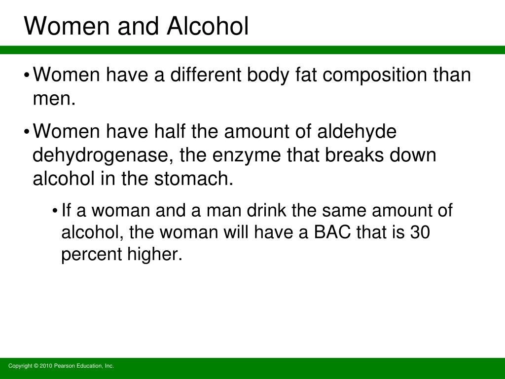 Women and Alcohol
