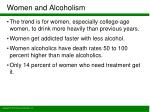 women and alcoholism