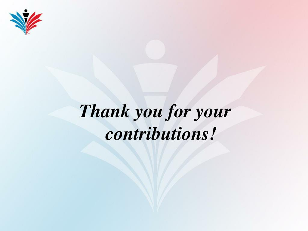 Thank you for your contributions!