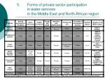 forms of private sector participation in water services in the middle east and north african region