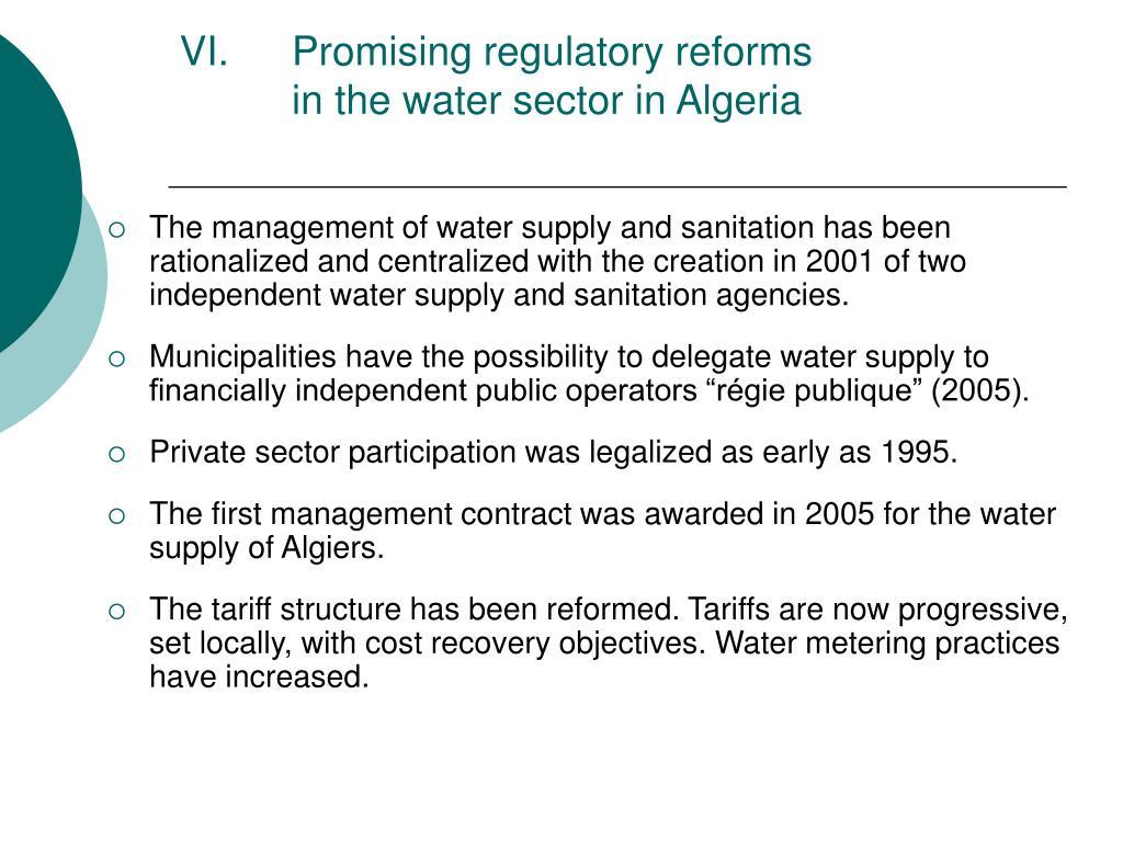 Promising regulatory reforms