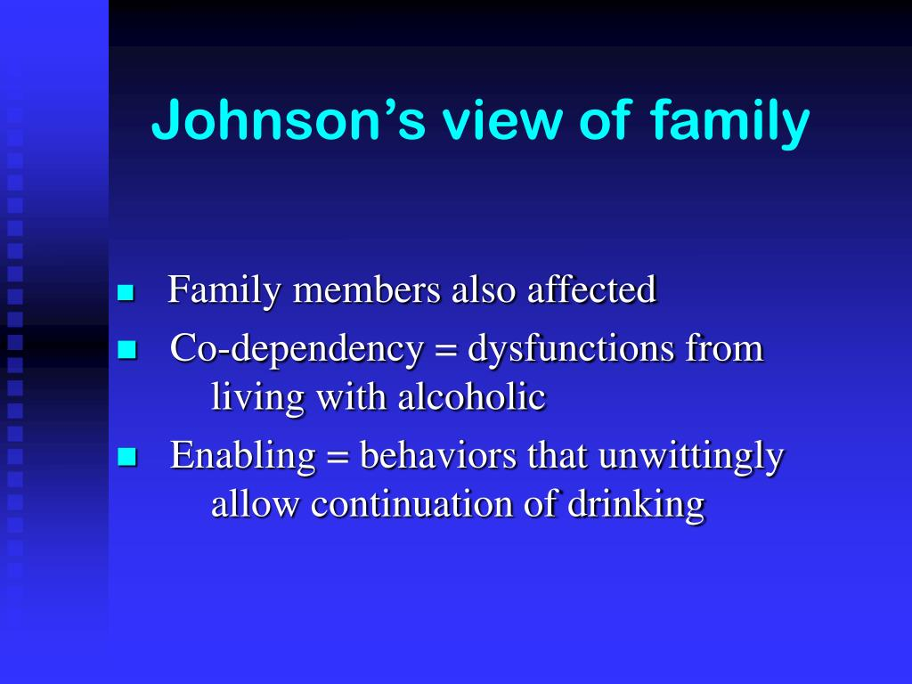Johnson's view of family