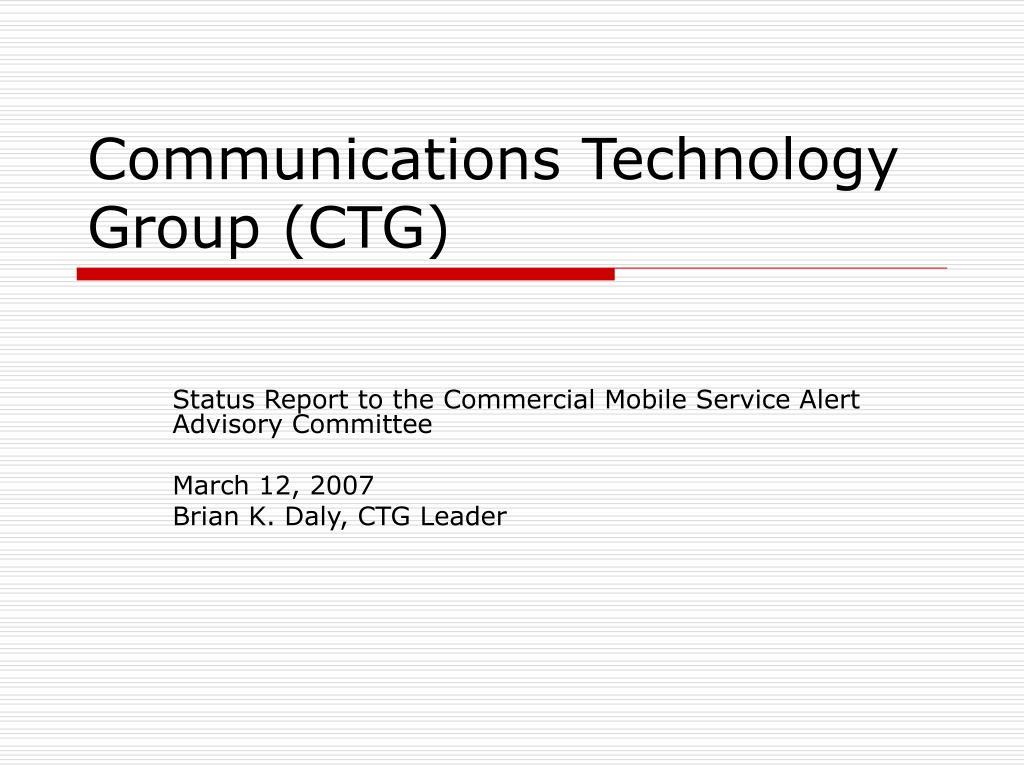 Communications Technology Group (CTG)