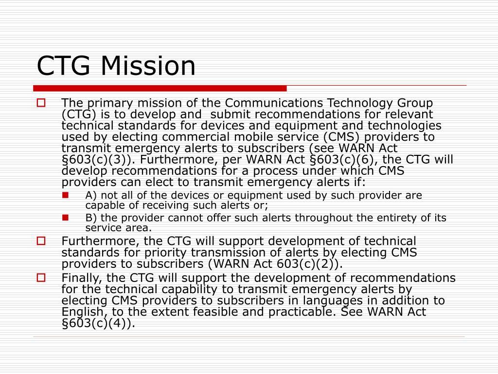 CTG Mission