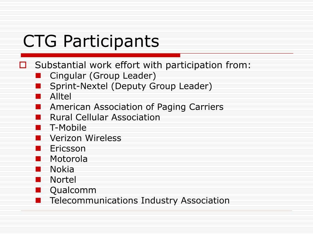 CTG Participants