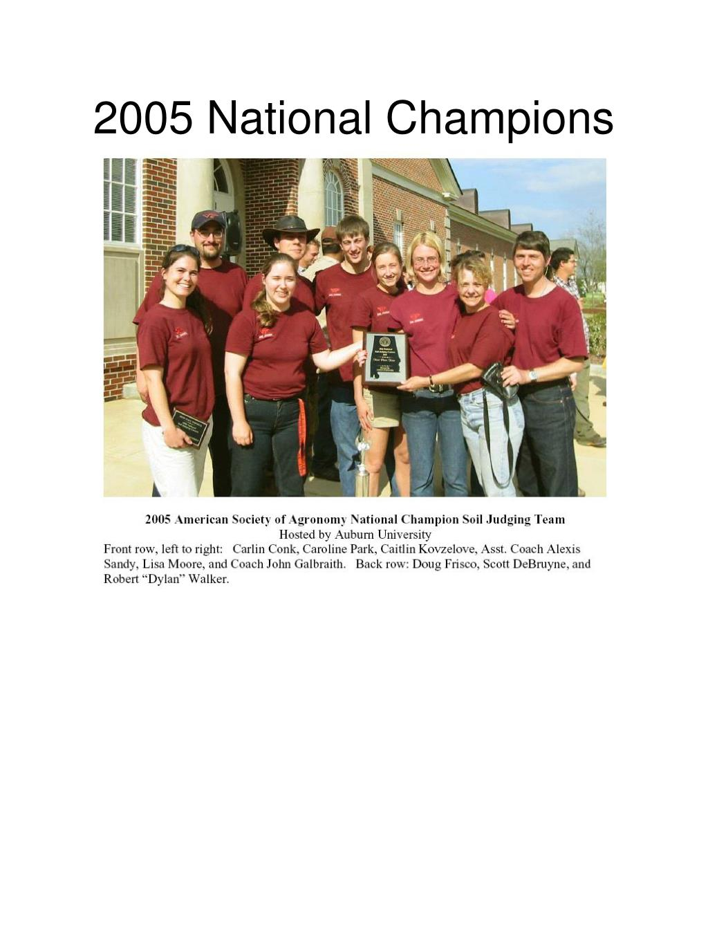 2005 National Champions