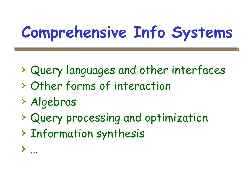 Comprehensive Info Systems