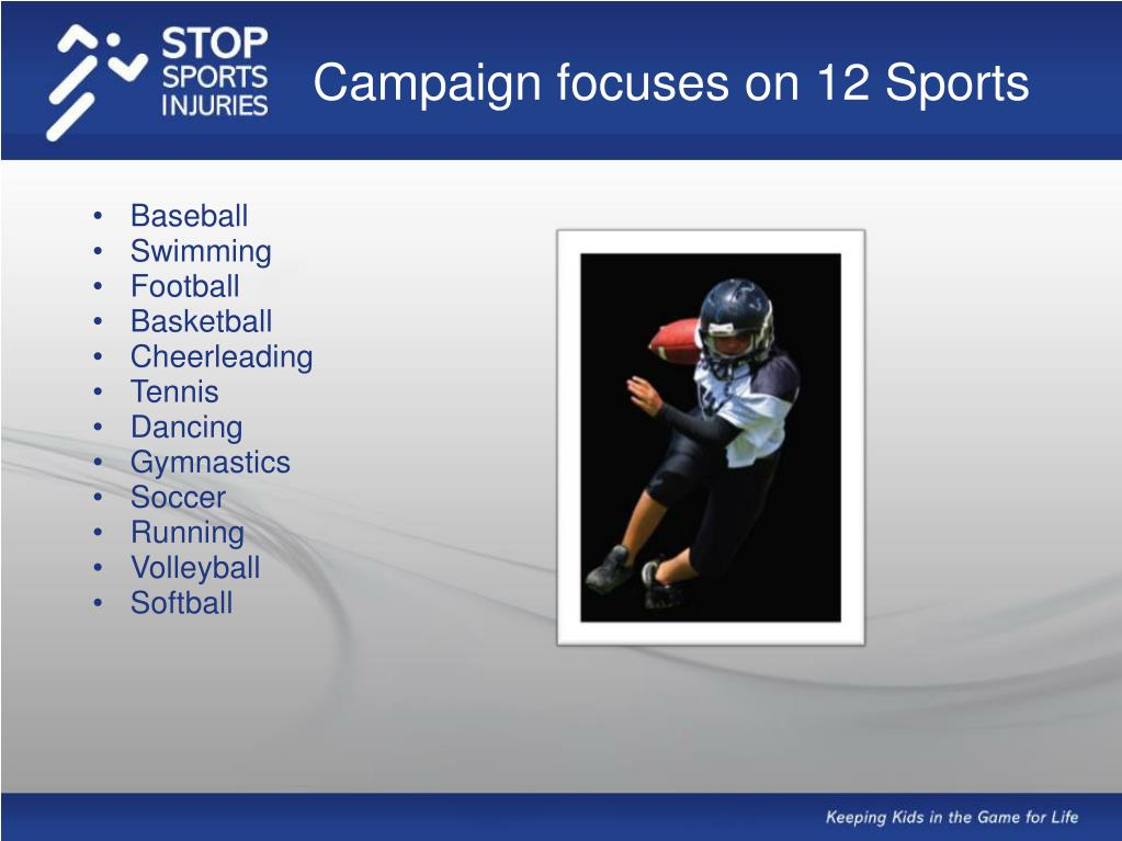 Campaign focuses on 12 Sports