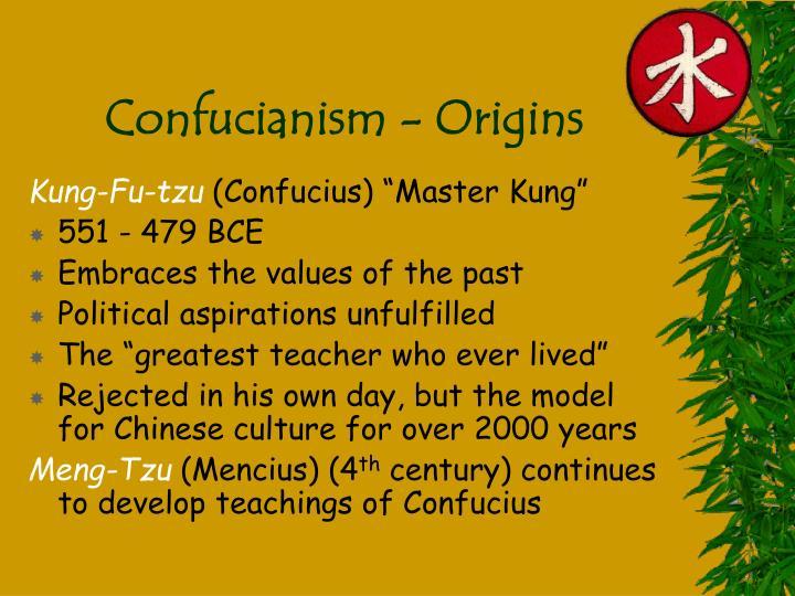 Confucianism - Origins