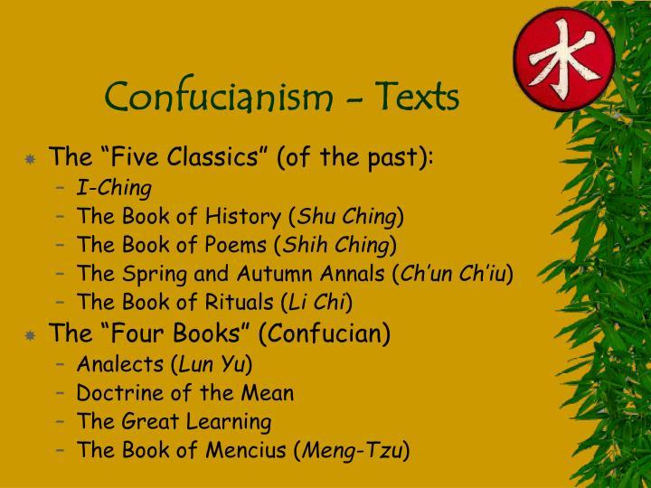 Confucianism - Texts