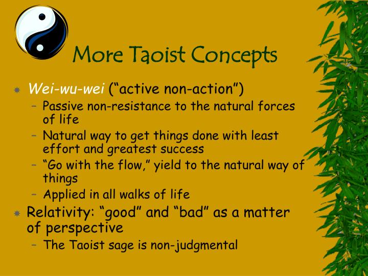 More Taoist Concepts