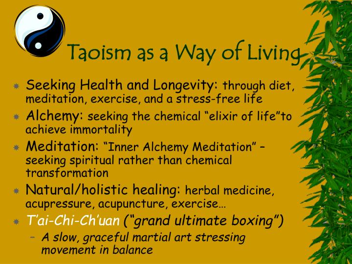 Taoism as a Way of Living