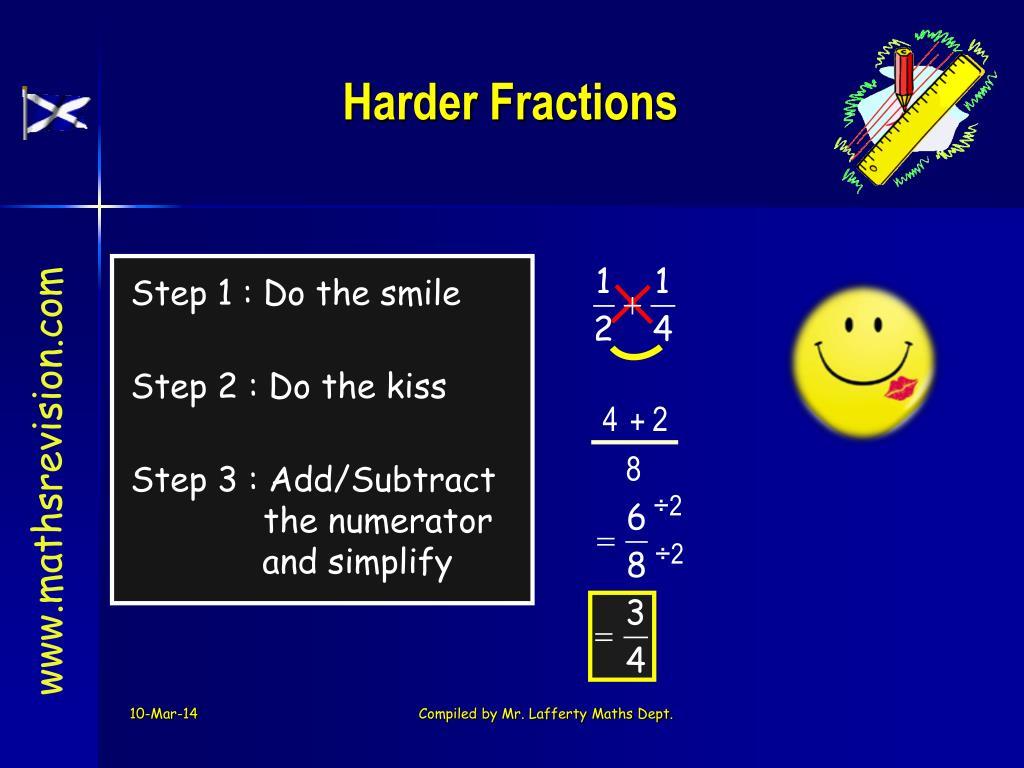 Harder Fractions