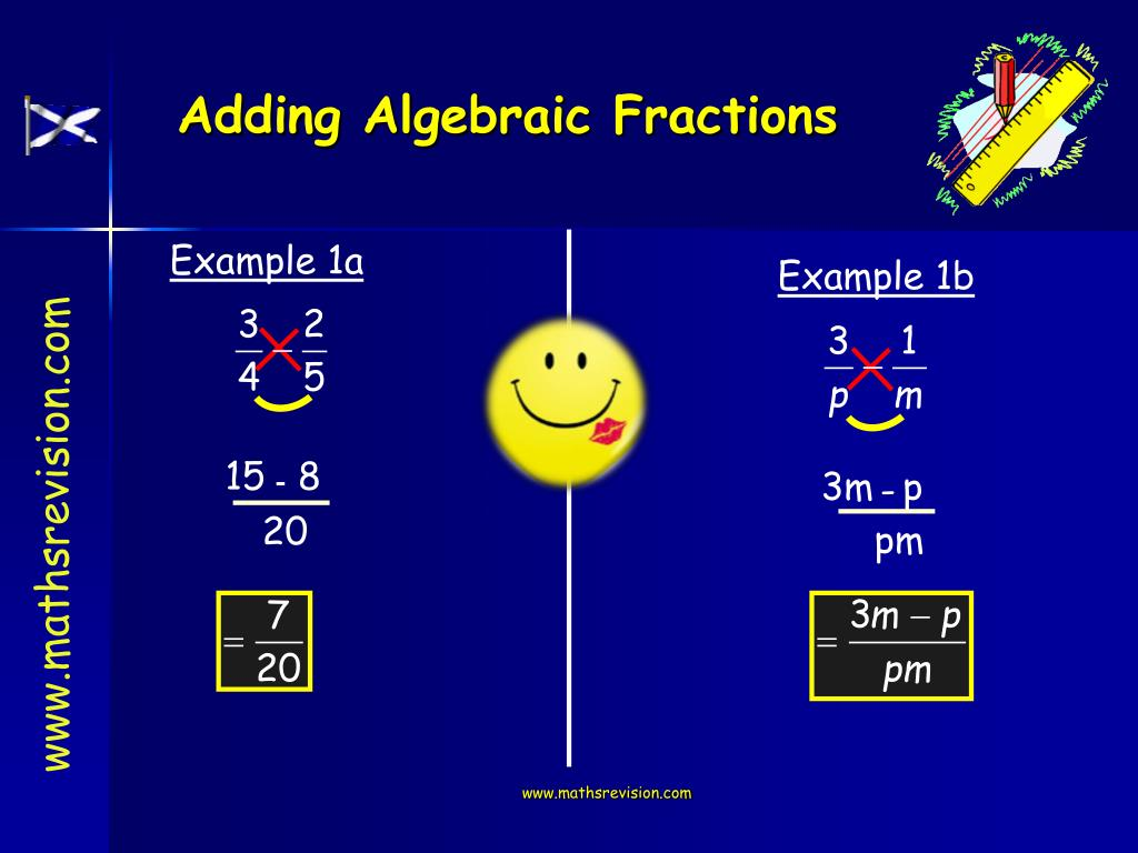 Adding Algebraic Fractions