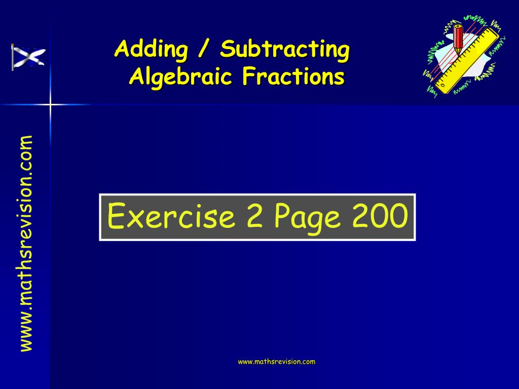 Adding / Subtracting