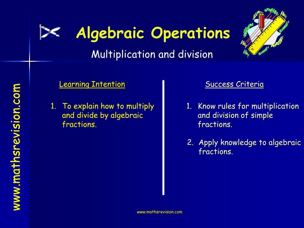 Algebraic Operations