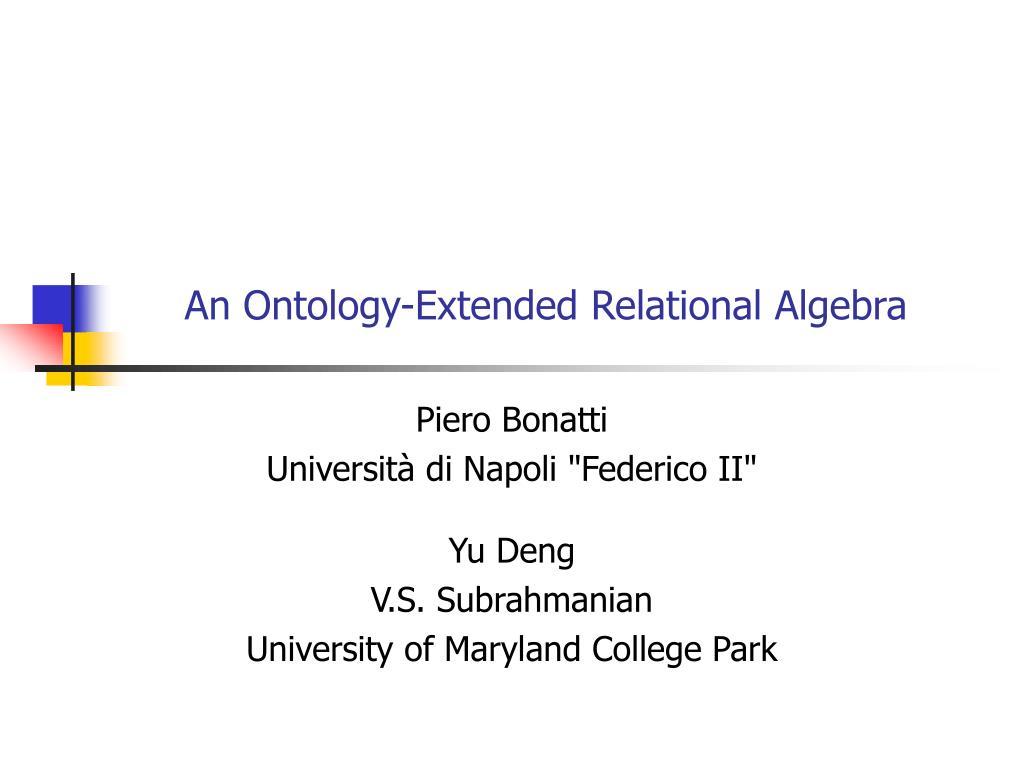 An Ontology-Extended Relational Algebra