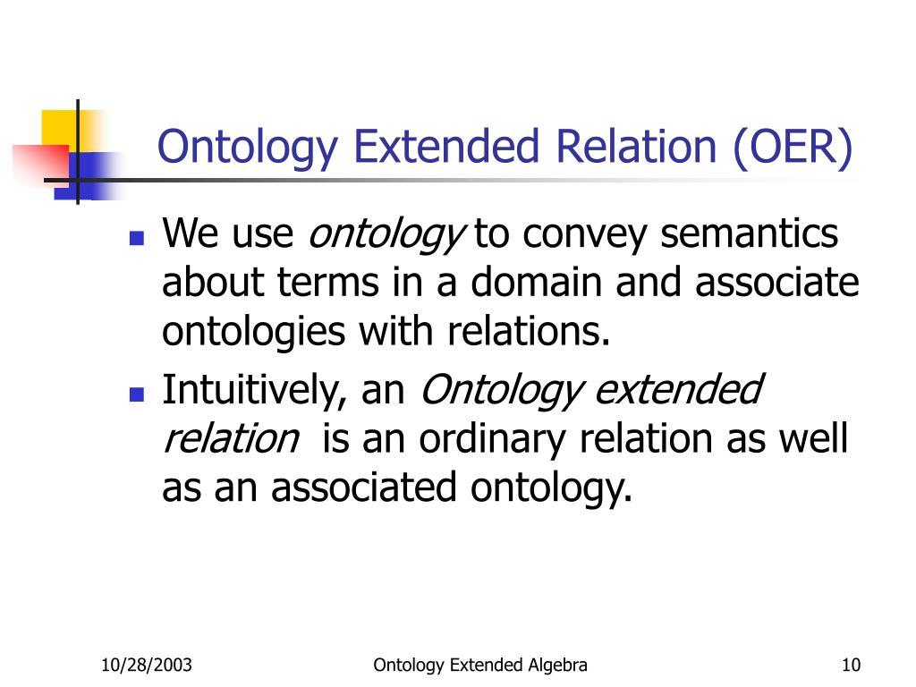 Ontology Extended Relation (OER)