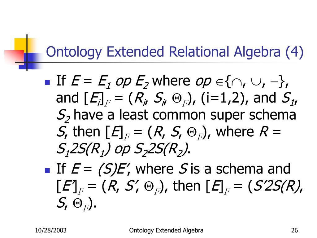 Ontology Extended Relational Algebra (4)