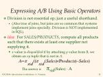 expressing a b using basic operators