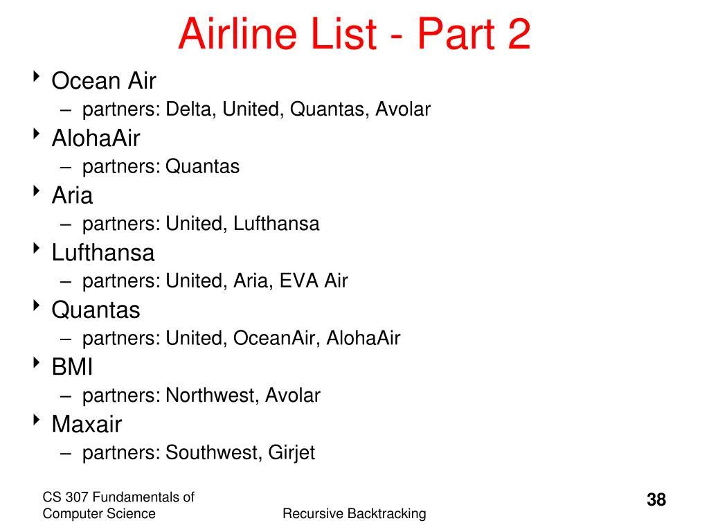 Airline List - Part 2