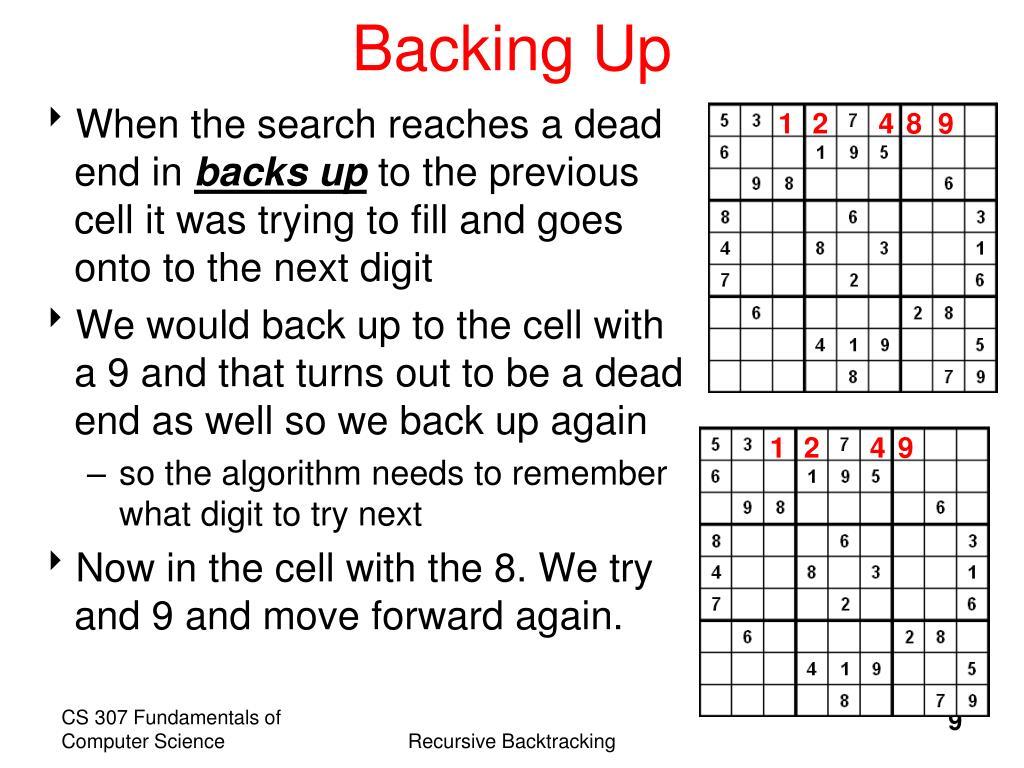 Backing Up