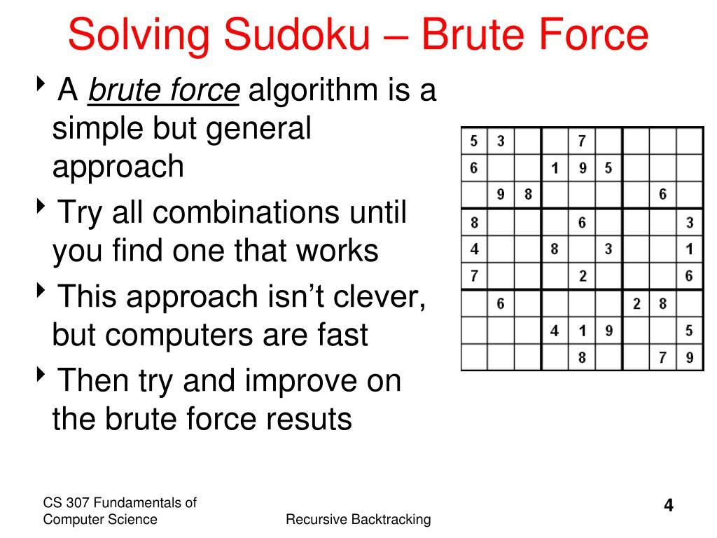 Solving Sudoku – Brute Force
