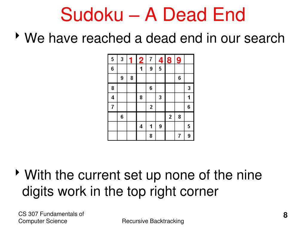 Sudoku – A Dead End