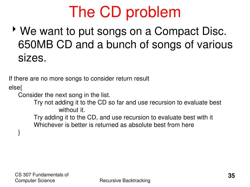 The CD problem