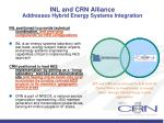 inl and crn alliance addresses hybrid energy systems integration