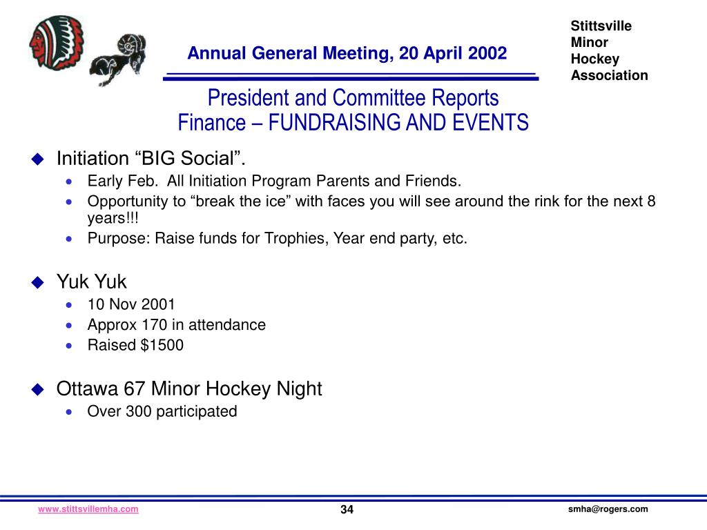 President and Committee Reports
