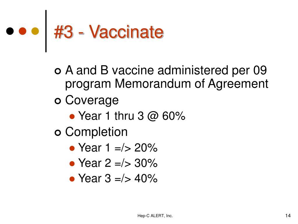 #3 - Vaccinate