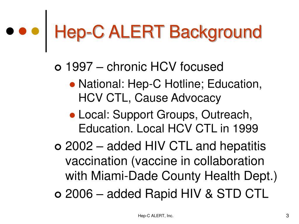 Hep-C ALERT Background