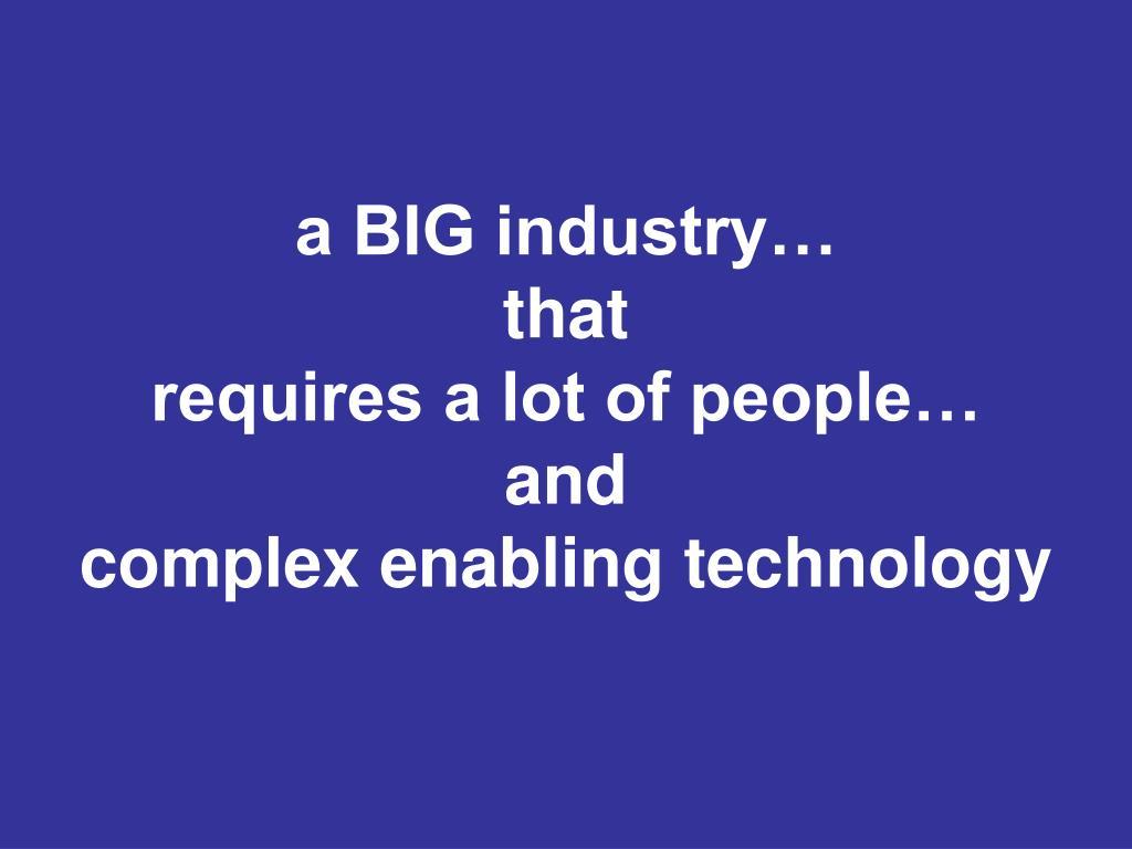 a BIG industry…