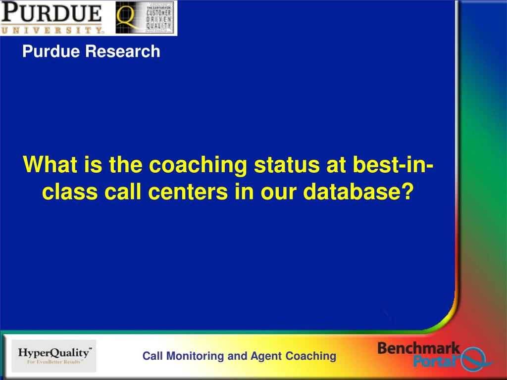 What is the coaching status at best-in-class call centers in our database?