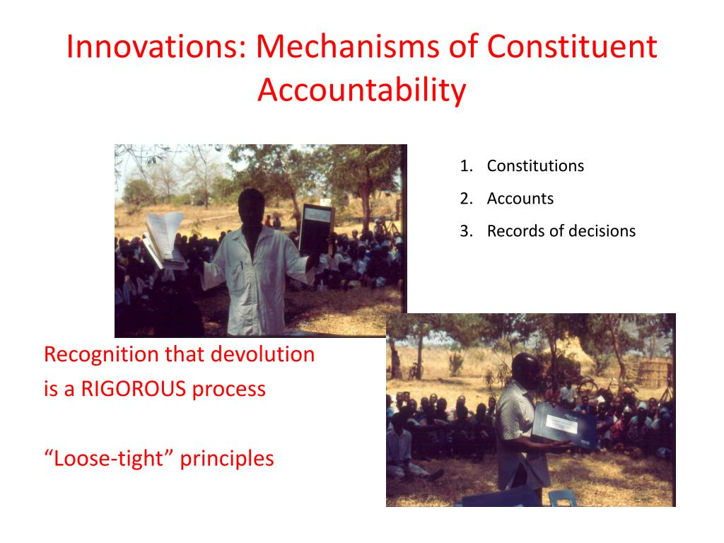Innovations: Mechanisms of Constituent Accountability