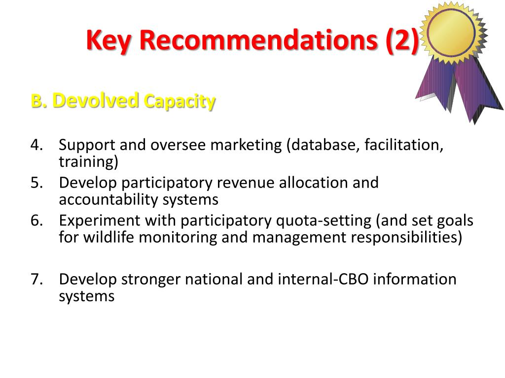 Key Recommendations (2)